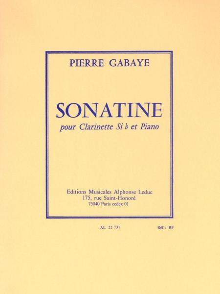 Sonatine - Clarinette Sib et Piano
