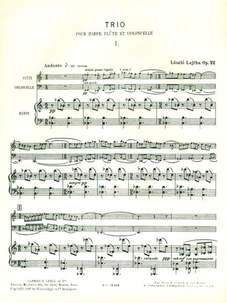 Trio No.1 Op22 - Flute Violoncelle Harpe