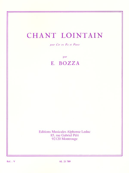 Chant Lointain - Cor et Piano