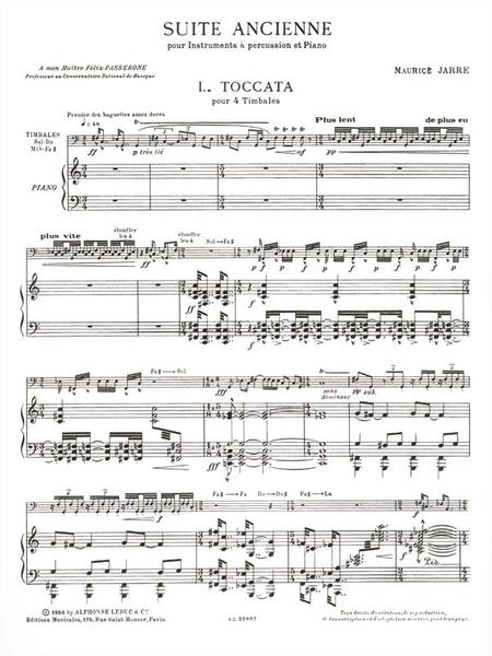 Suite Ancienne - Percussions (Classiques) et Piano