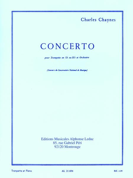 Concerto (Tromp.Et Orchestre) - Trompette Ut ou Sib et Piano