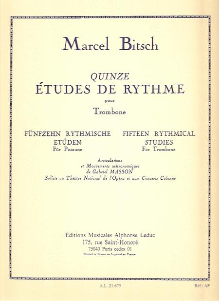 15 Etudes de Rythme - Trombone