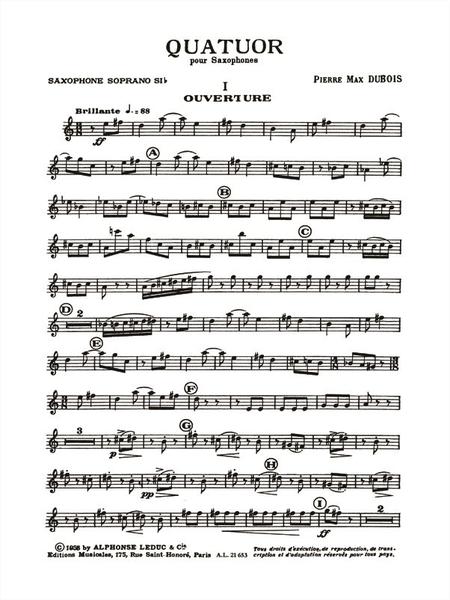 Quatuor - 4 Saxophones