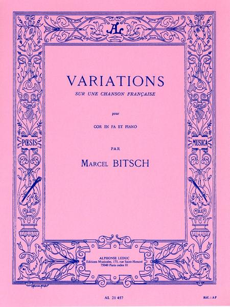 Variations Sur Une Chanson Francaise Cor en Fa et Piano