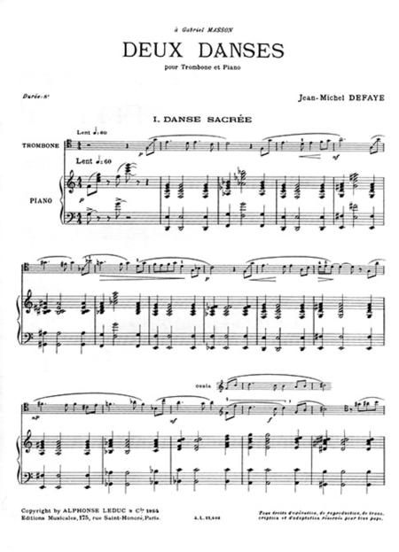 2 Danses - Trombone et Piano