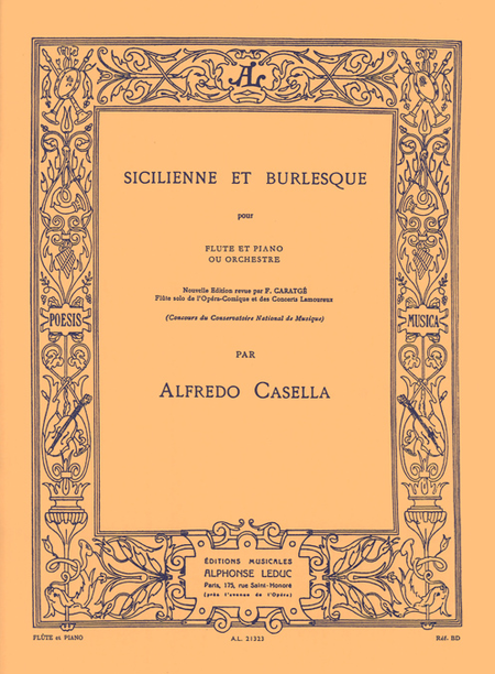 Sicilienne et Burlesque - Flute et Piano