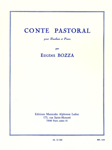 Conte Pastoral - Hautbois et Piano