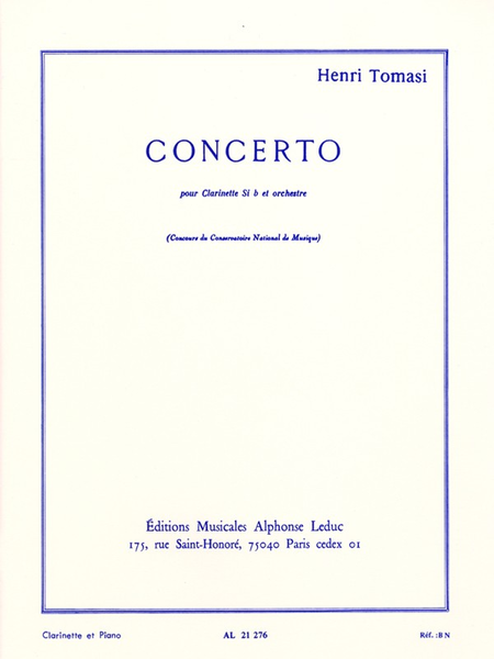 Concerto (Clarinette Orchestre) - Clarinette et Piano