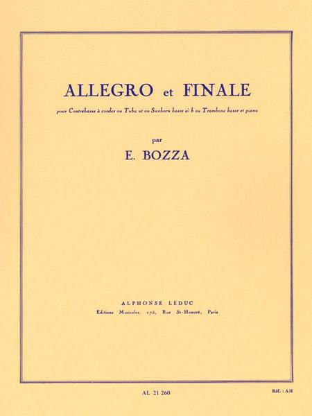 Allegro et Finale - Contrebasse ou Tuba Ut ou Trombone Basse et Piano