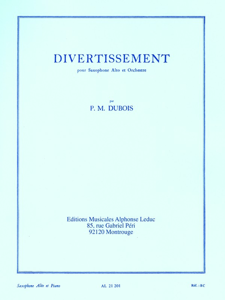 Divertissement - Saxophone Mib et Piano