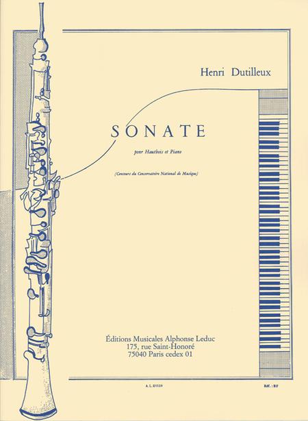 Sonate - Hautbois et Piano