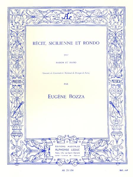 Recit Sicilienne et Rondo - Basson et Piano