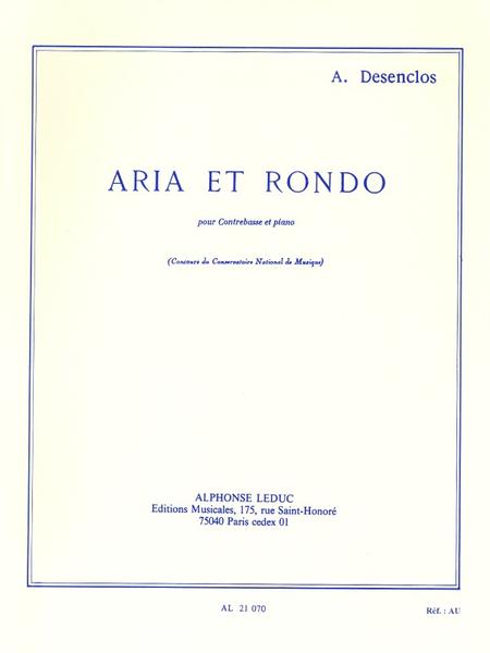 Aria et Rondo - Contrebasse et Piano