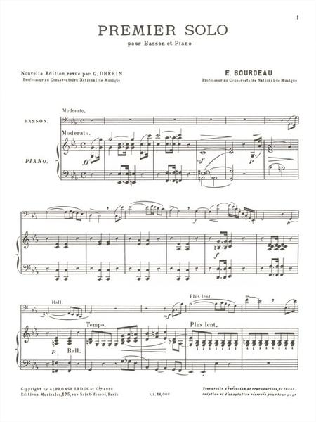 Solo No.1 - Basson et Piano