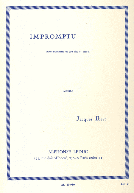 Impromptu - Trompette Ut (Ou Sib) et Piano