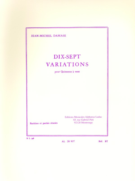 17 Variations - Quintette a Vent