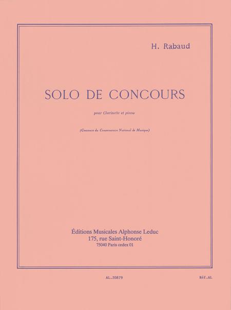 Solo de Concours Op10 - Clarinette et Piano
