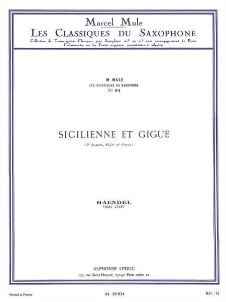Classique Saxophone Mib No.94: Sonate No.5 (Flute):Sicilienne Gigue