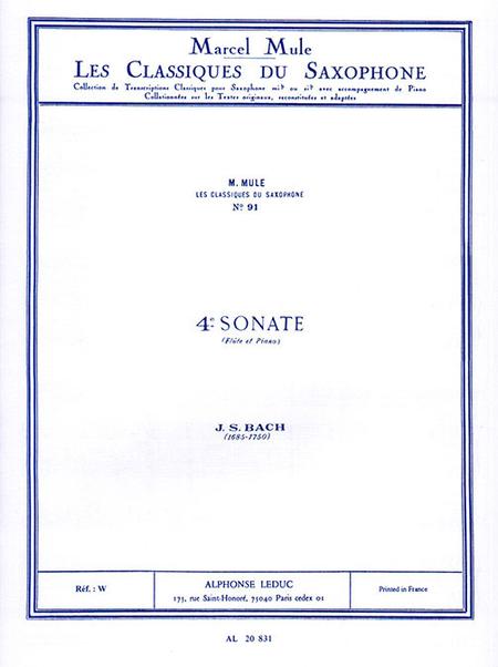 Classique Saxophone Mib No.91: Sonate No.4 (Flute)