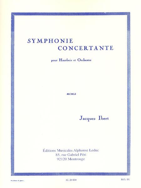 Symphonie Concertante - Hautbois Et Piano