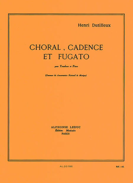 Choral Cadence Et Fugato - Trombone Et Piano
