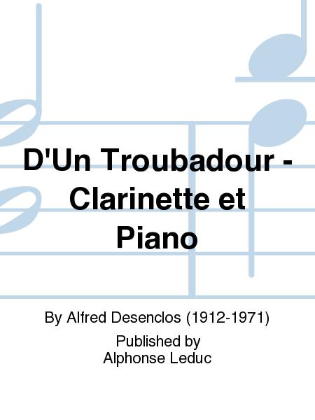D'Un Troubadour - Clarinette et Piano