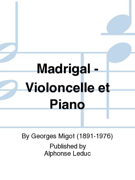 Madrigal - Violoncelle et Piano