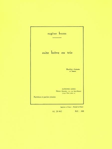 Suite Breve en Trio - Hautbois/Clarinette/Basson