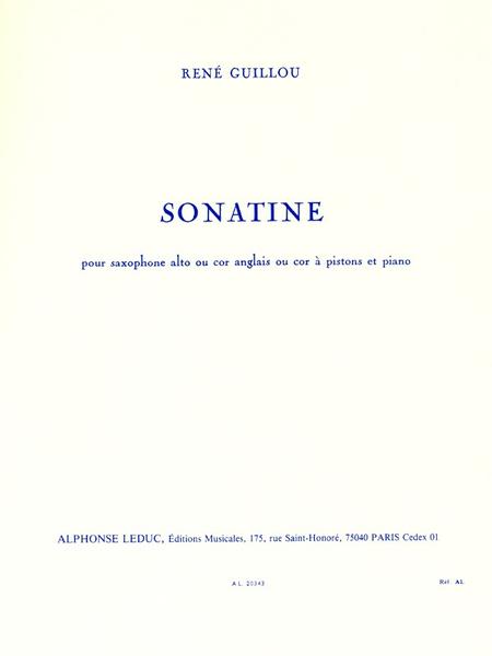 Sonatine - Saxophone Mib (Ou Cor Anglais ou Cor Pistons) Piano