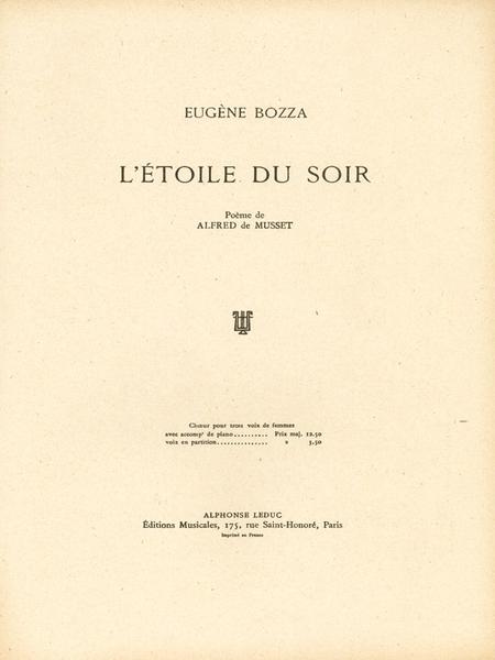 Etoile Du Soir - 3 Voix Femmes et Piano