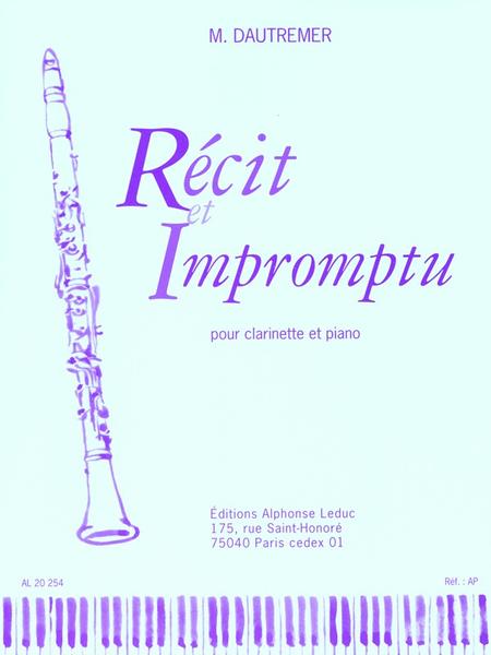Recit et Impromptu - Clarinette Sib et Piano