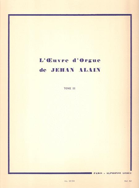 Oeuvre D'Orgue - Volume 3