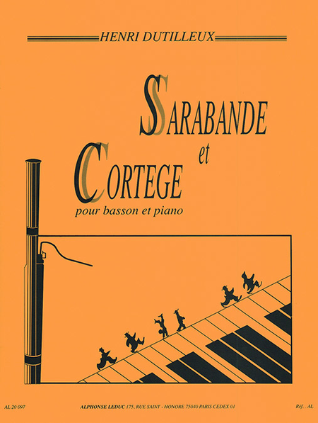 Sarabande Et Cortege - Basson Et Piano