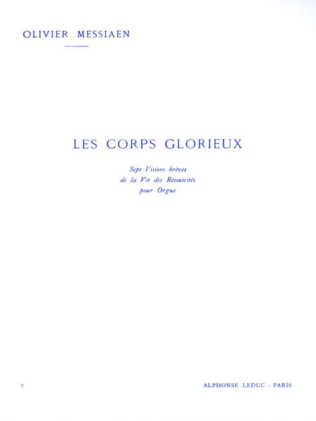 Corps Glorieux Volume 2 - Orgue