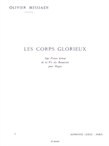 Corps Glorieux Volume 1 - Orgue