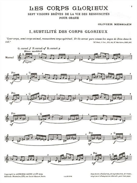 Corps Glorieux Volume 1 - Orgue