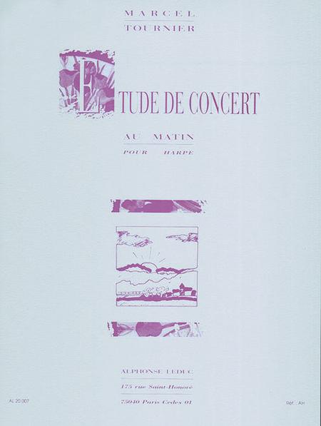 Etude De Concert (Au Matin) - Harpe