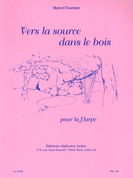 Vers la source dans le bois harpe sheet music by m for Vers dans le bois