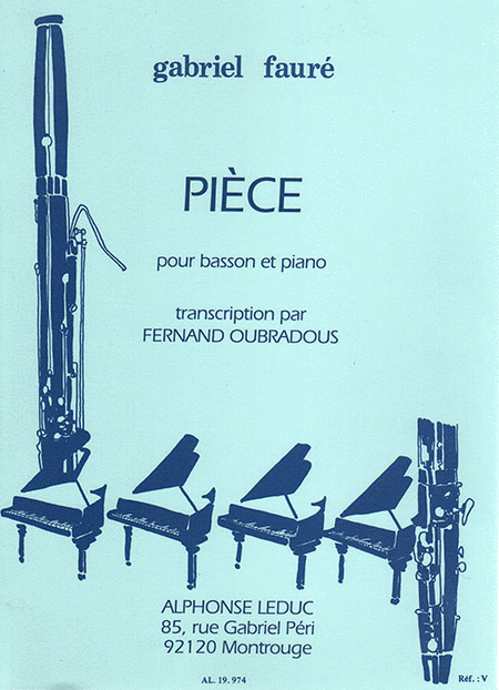 Piece - Basson et Piano