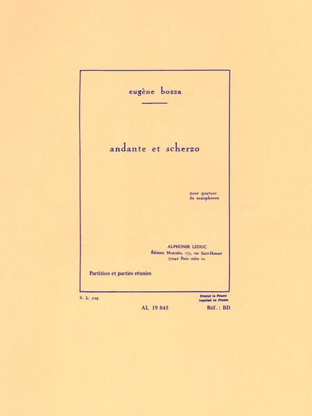 Andante et Scherzo - Quatuor de Saxophones