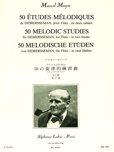 50 Etudes Melodiques Op4 D'Apres Demersseman Volume 2 (No.26 a 50) Flute