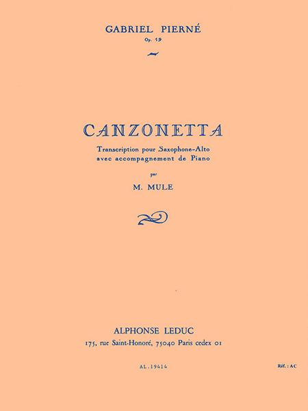 Canzonetta - Saxophone Mib et Piano