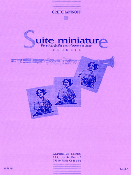 Suite Miniature Op145 - Clarinette et Piano