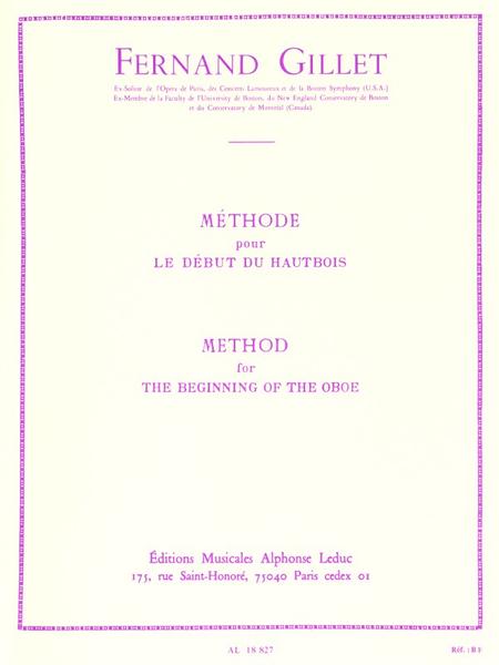 Methode Pour Le Debut Du - Hautbois