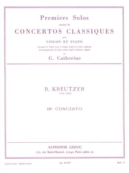 Premiers Solos Concertos Classiques:No.19 Violon et Piano