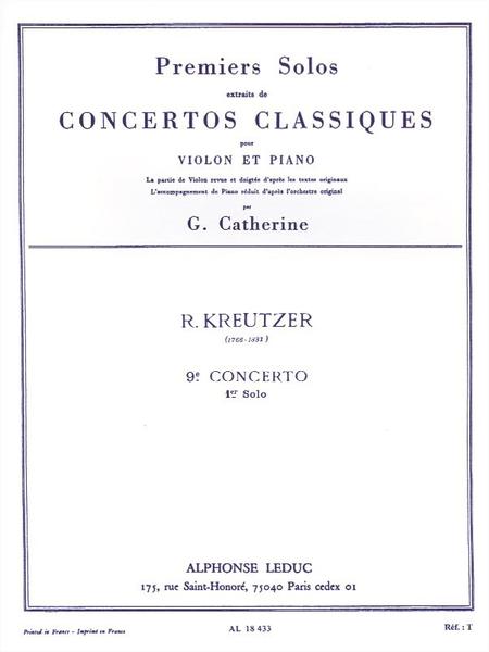 Premiers Solos Concertos Classiques:No.9 Violon et Piano
