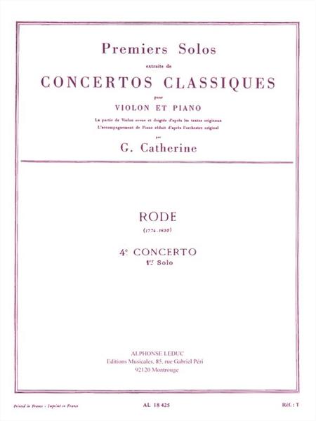 Premiers Solos Concertos Classiques:No.4 Violon et Piano