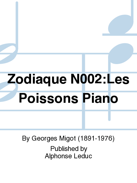 Zodiaque N002:Les Poissons Piano