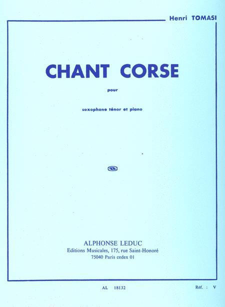 Chant Corse - Saxophone Sib Et Piano