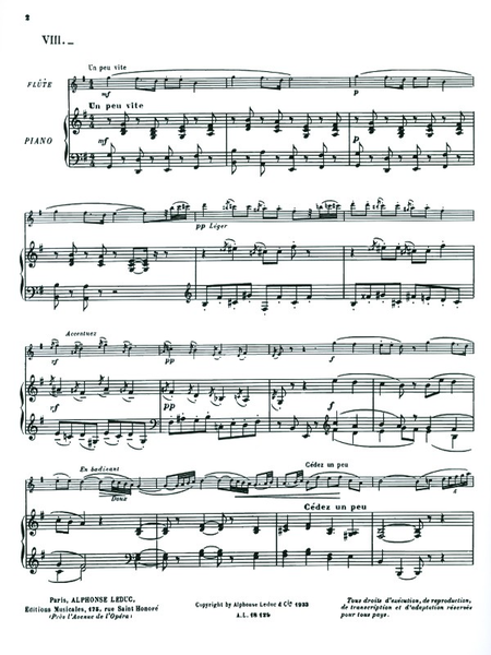 Histoires No.8 La Cage De Cristal Flute Et Piano
